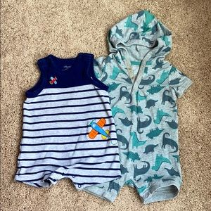 Carters and Little Me Baby outfits size 6 months